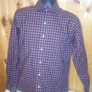 lauren ralph lauren men non iron plaid shirt T31